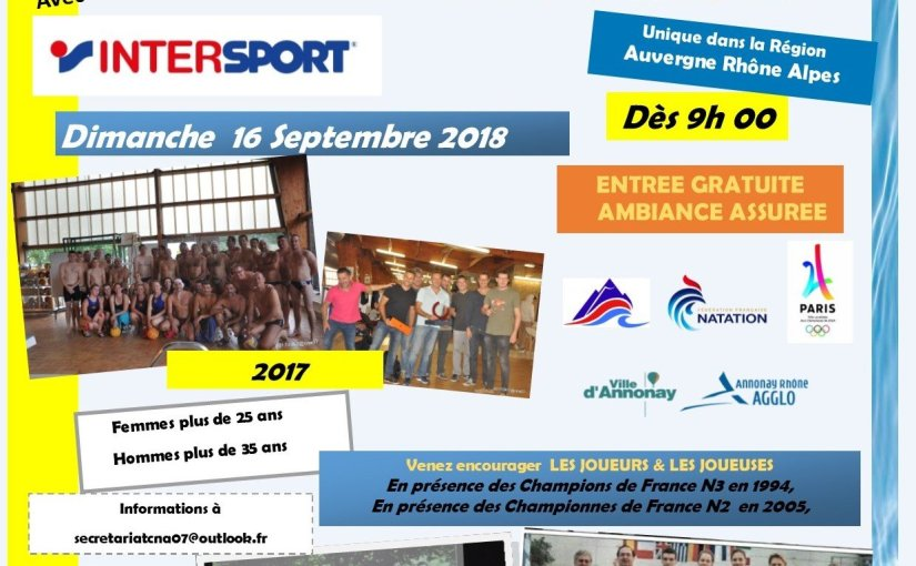Saison 18/19 – 6  – Tournoi « Masters » water polo